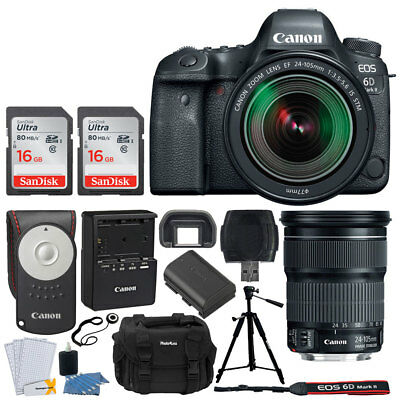 Canon EOS 6D Mark II DSLR Camera +  EF 24-105mm f/3.5-5.6 Lens + Accessory Kit!