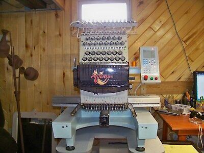 Phoenix 540,15 Needle Commercial Embroidery Machine with IDS Digitizing Software