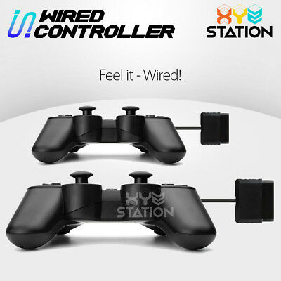 2x NEW Wired Game Controller Gamepad Joypad For PS2 Black