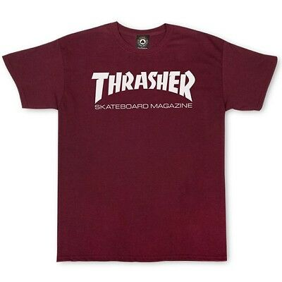 NWT Authentic Thrasher Skate Mag Maroon Tee