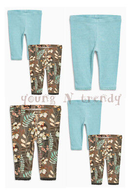 BNWT NEXT 6-9-12-18-24 months girl 2 LEGGINGS SET *GREEN/FLORAL