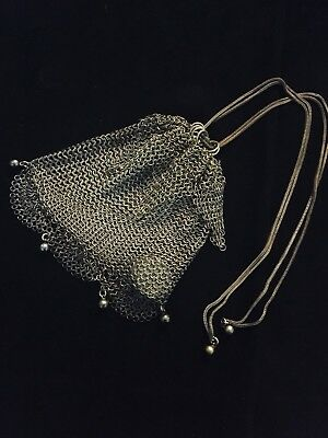 Silver Mesh Coin Purse, Chatelaine Victorian/Early Art Deco; pristine unaltered