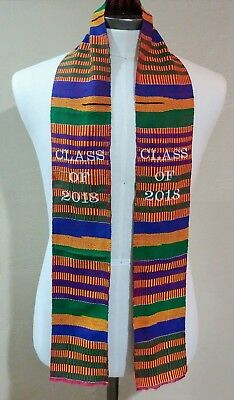 Class Of 2018 Kente Graduation Stole, Authentic Kente Cloth
