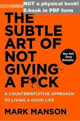 The Subtle Art of Not Giving a F*ck Mark Manson EB00K (DIGITAL BOOK) P.D.F Books