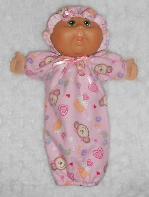 "Doll Clothes - Fit 11"" Cabbage Patch Newborn Doll - Silly Monkey Sleep Sack Set"