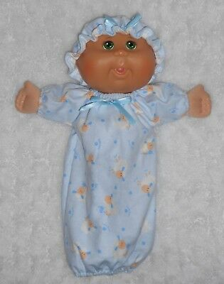 "Doll Clothes - Fit 11"" Cabbage Patch Newborn Doll - Sheep Sleep Sack & Hat Set"