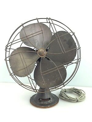 Vintage 1953 Emerson Model 77648-AS Oscillating 3 Speed Fan Working