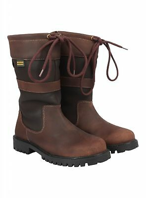 Womens Equestrian Country Riding Boots Waterproof Breathable Leather Upper New