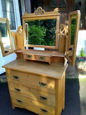 Beautiful Satinwood Dressing Table In Good Overall Condition Final Reduction
