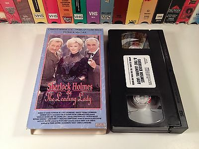 Sherlock Holmes & The Leading Lady TV Movie Mystery VHS 1991 Christopher Lee