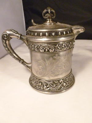 Wilcox Quadruple Plate Milk Coffee Pitcher Lidded Ornate Jug