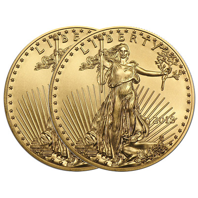 Lot of 2 - 2018 $10 American Gold Eagle 1/4 oz Brilliant Uncirculated