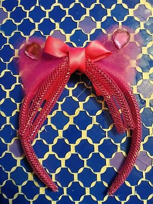 pink cat jeweled ears headband