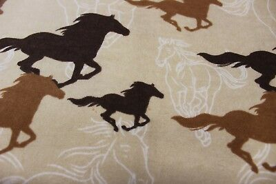 "Handmade  Flannel Receiving / Swaddle blanket~~40"" x 40""~HORSES"