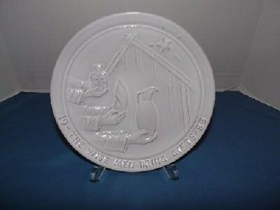 1983 Frankoma Christmas The Wise Men Bring Gifts Plate Signed by Joniece Frank