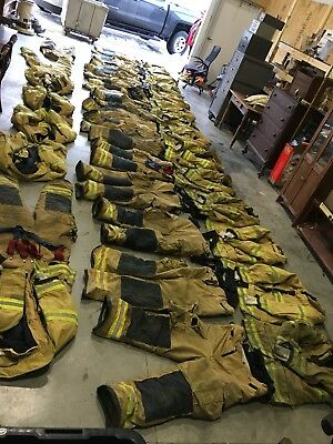 Lot Fire Dex Firefighter Suits: Pants And Coats 36 Pieces See Sizes
