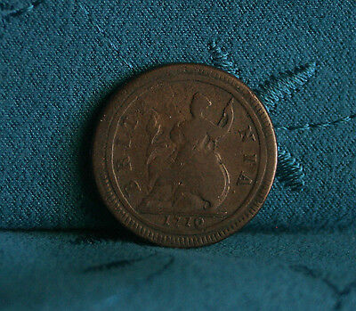 Great Britain 1/2 Penny 1719 Copper World Coin UK Seated Half Cent GB England