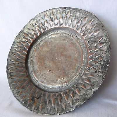 Antique COPPER Metal Dish Tray Soldier Army Serving – Goth Medieval 1700s, Greek