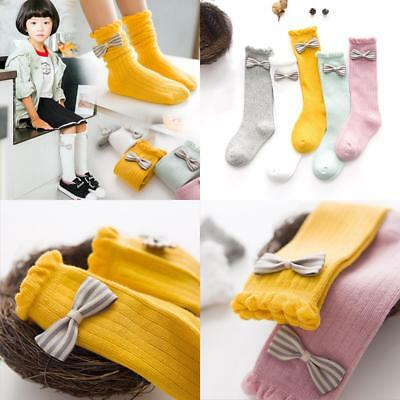 Hot Products Cute Lace  Boot Socks Bowknot Striped Kid's Girl's Sweets Princess