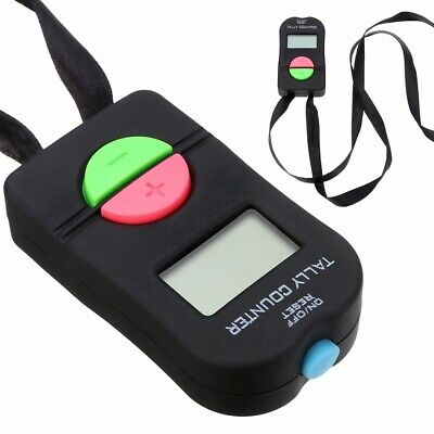 Digital LCD Electronic Finger Hand Manual Ring ON/OFF RESET Tally Counter Black