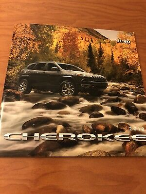 2018 JEEP CHEROKEE 60-page Original Sales Brochure