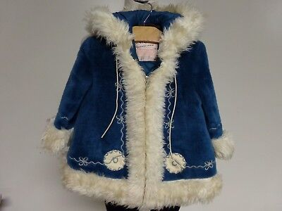Vintage ROTHCHILD Country Girl = Eskimo Style Faux Fur Coat 3 made USA 1970s
