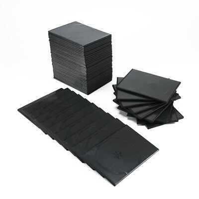 100 Pcs/Set Durable Practical Slim Cases Black Double DVD Cases