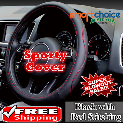 Luxury Sporty Auto Car Steering Wheel Cover PU Leather Universal Size Car Cover