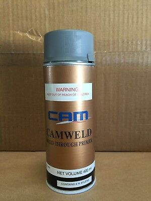 CAM Weld Through Zinc Primer Aerosol 400ML, Spray Can, Car Body Repair.