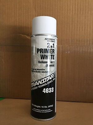 Transtar 2in1 Primer WHITE Aerosol / Spray Can 4633 400g, Auto Paint, Touch Up.