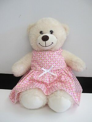 """DRESS  suitable Build a Bear  """"Pink with Circles   """""""