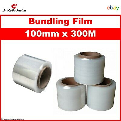 1xRoll 100mm x 300m Clear 20U Bundling Film Stretch Film Pallet Shrink Wrap