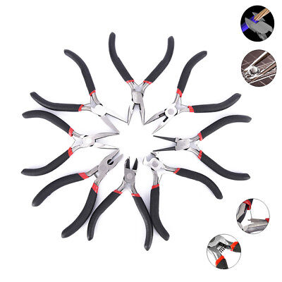 Mini Long Plier Jewelry Round Nose Beading Wire Cutter Plier Craft Hand Tool