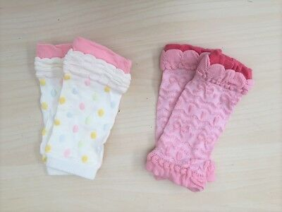 2x Baby Infant Toddler Girl Knee Pad Leg Warmers, brand new VERY soft