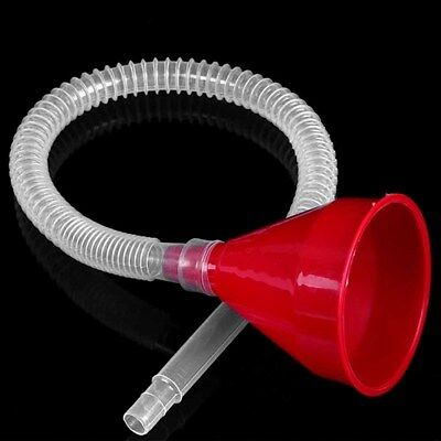Plastic Funnel and Soft Pipe Durable Spout Pour Oil Gas Tool Petrol Diesel Hot