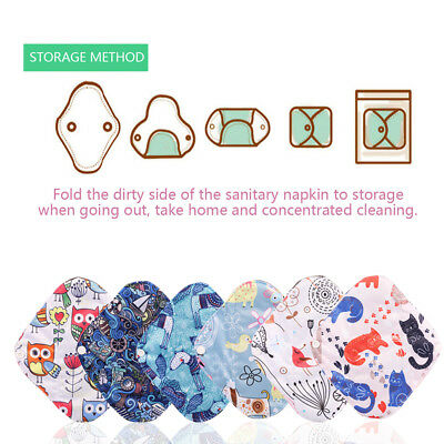 New Cloth Menstrual Pad Mama Sanitary Bamboo Charcoal Reusable Wet Bag Overnight