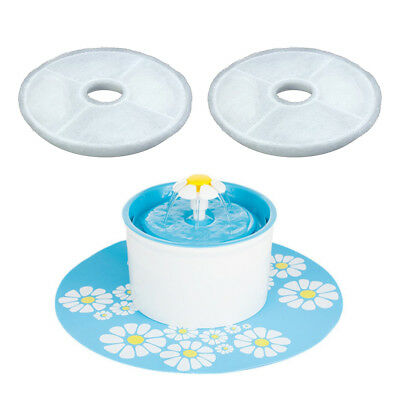 2*Flower Style Filter For Automatic Cats Dogs Kitten Water Drinking Fountain Pet