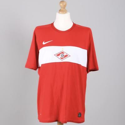 Spartak Moscow 2009-2010 Home Football Shirt By Nike Size XL