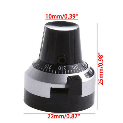 Dial Multi-Turn 10 Turns Potentiometer Pot Knob Cap for 6.35mm Scale 3590S MS2