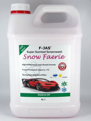 F-JAS 5L Readymix Screenwash Snow Faerie Fragrance