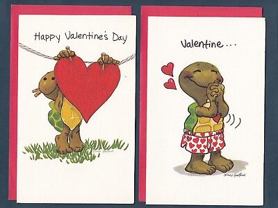Lot of 2 Vintage Suzy Zoo Valentine Cards ~ Corky with Big Heart Valentine...