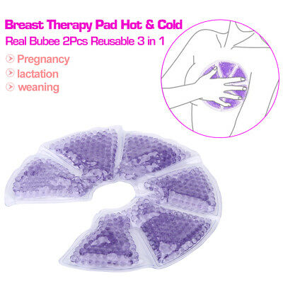 2Pcs Reusable 3 in 1 Breast Therapy Pad Cold Heat Compress Breast Nursing