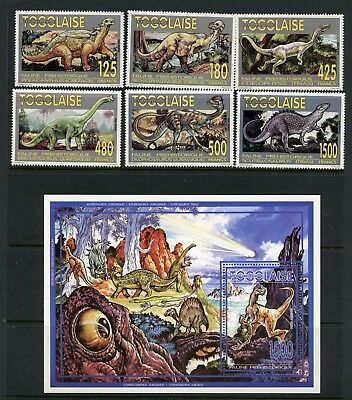 Togo  1994  #1628-34  dinosaurs   set & sheet  MNH  L672