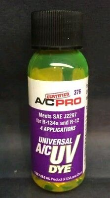 A/C Pro Universal A/C Leak Tracer UV Dye 6 Bottles 1fl oz for R-134 and R-12