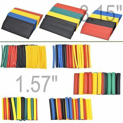 328 PC 2:1 Polyolefin Heat Shrink Tubing Tube Sleeve Wrap Wire Assortment 8 Size