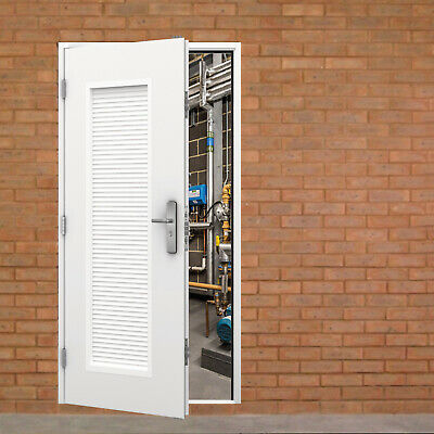 Louvred Steel Doors - Ventilated Security Door with Louver Louvre Louvered Vents