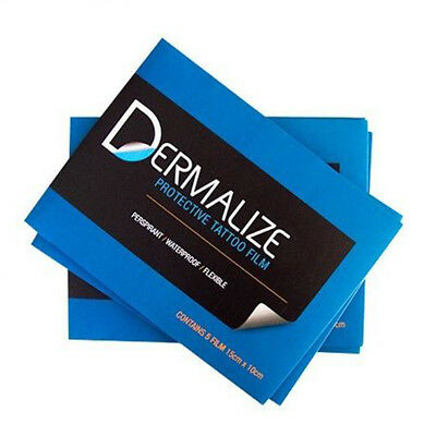 Dermalize Pro Sheets Tattoo Aftercare Coverup Film - 5 Pack -15cm x 10cm