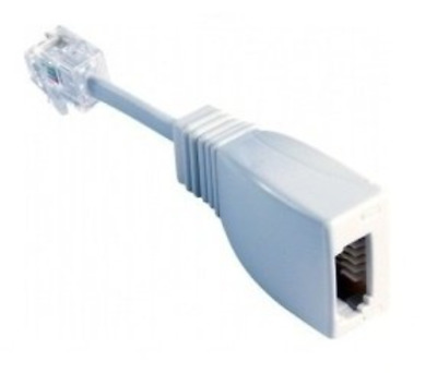 RJ11 Plug to BT Socket with tail Telephone Adaptor White