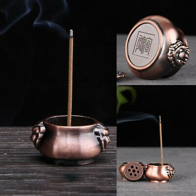 Holes Pure Copper Incense Burner Holder Plate Stick Cones Home Decor Decorations