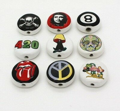Ceramic Tobacco Pipe One Hitter with Decal Buy 2 Get 1 Free